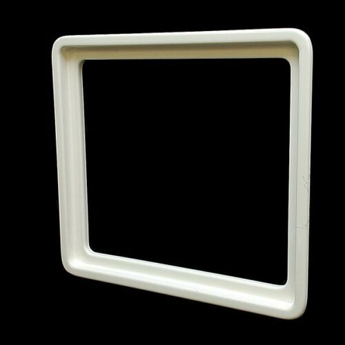 Ocean Yachts 16 3//8 X 14 1//8 In White Plastic Boat Hatch Window Trim Ring