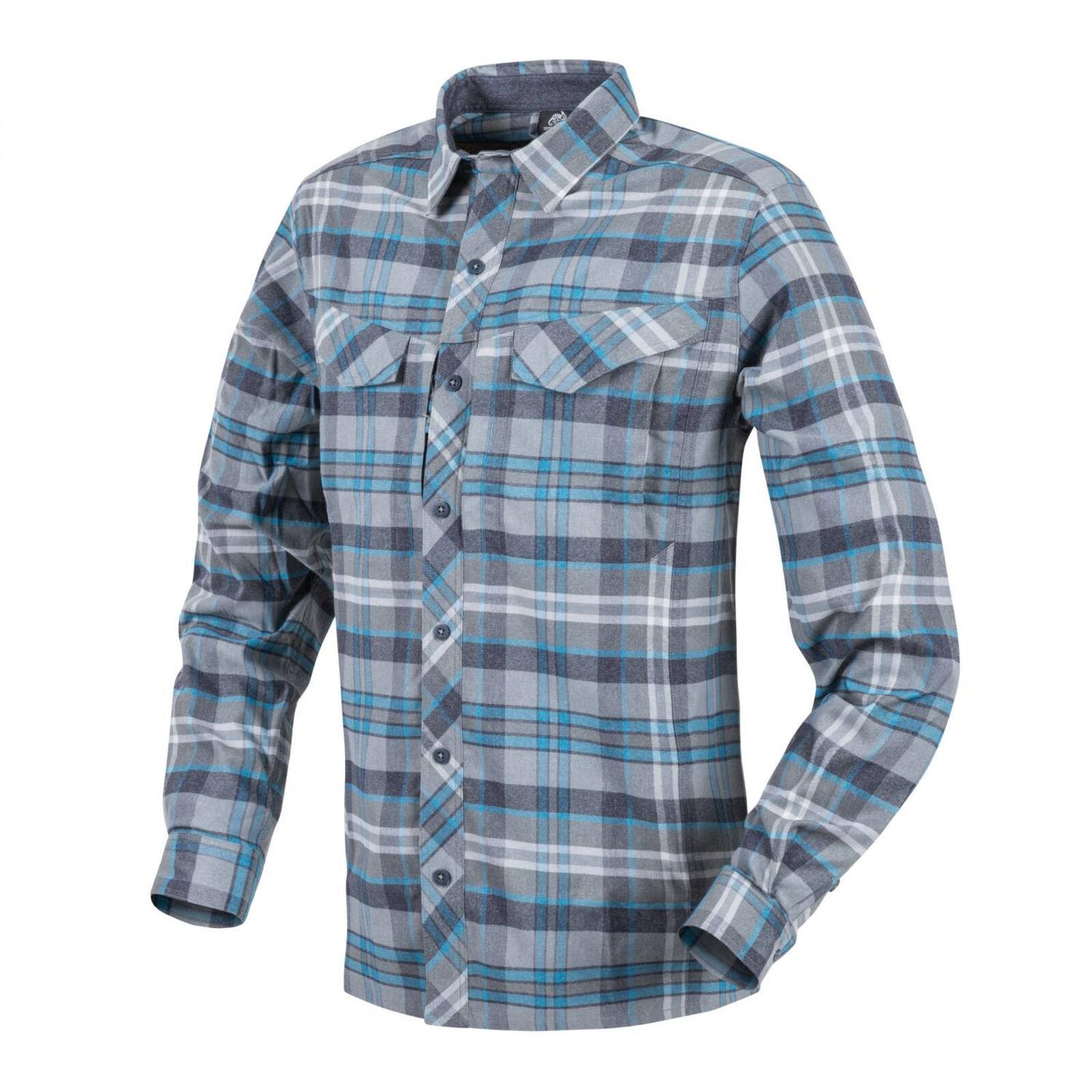 Helikon-Tex Defender Mk2  Pilgrim Long Sleeve Shirt Hemd - bluee Plaid  hottest new styles