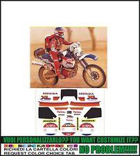 kit adesivi stickers compatibili xl 600  lm motore rosso paris dakar 1984