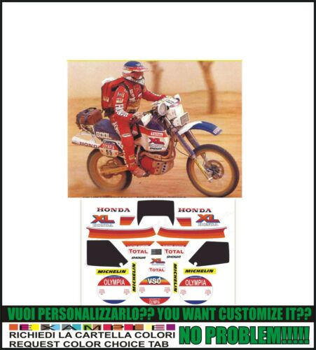 kit adesivi stickers compatibili xl 600  lm Paris dakar 1984