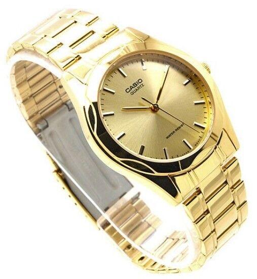 Authentic Casio MTP-1275G-9A Men's Analog Quartz Dress Gold Tone Dial Watch New