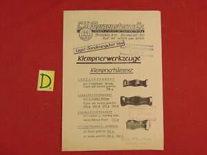 Alte Berufe Realistisch Klempnerwerkzeuge C.h.morgenstern & Co.1958 Ca.21x15cm.
