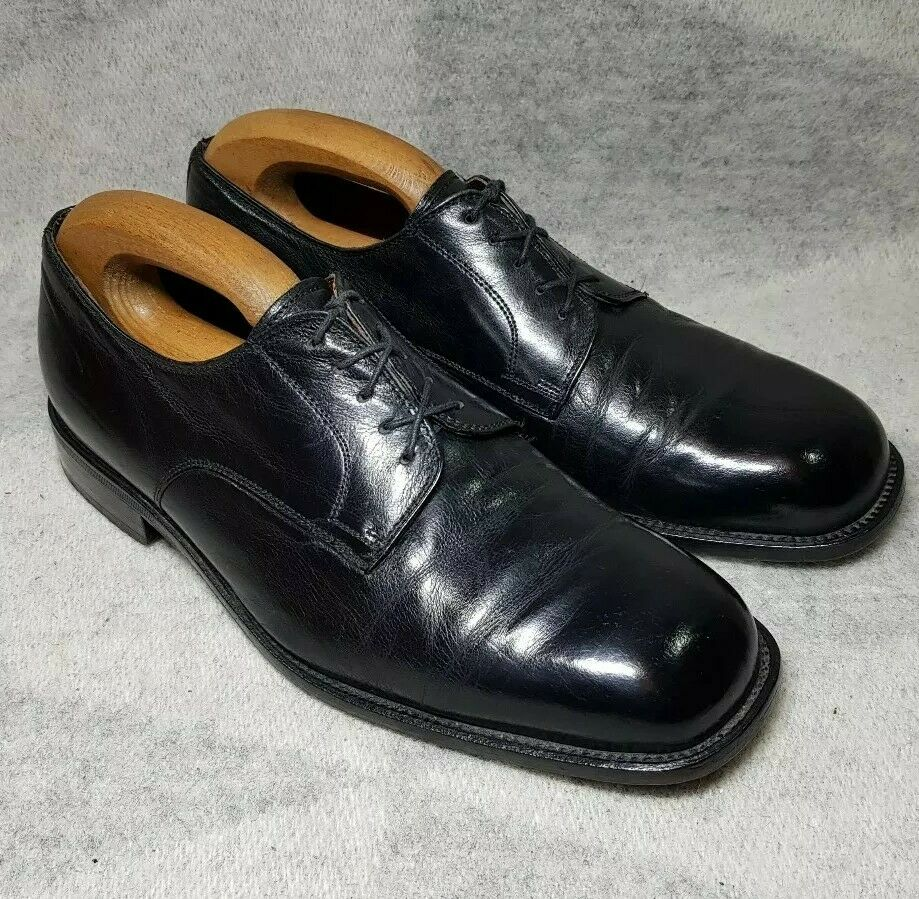 Kensington Derbys Size 7 Black Full Leather Mens Shoes