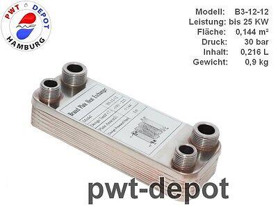 B3-12-12 Edelstahl Plattenwärmetauscher Leistung bis 25 KW Solar Pöl NEU