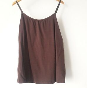 84a00cbe493 Lane Bryant NEW dark brown cotton tank top plus size 18   20