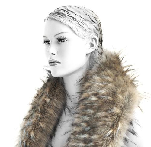collar webpelz fourrure Col châle faux fur la fourrure bordure foulard imitation col scarf