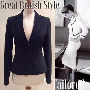 Button Black Hobbs Size 12 Neck V Jacket wqxI76