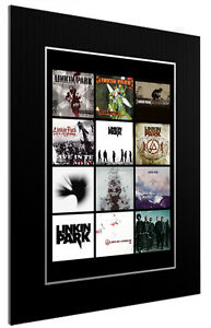 MOUNTED-FRAMED-PRINT-LINKIN-PARK-ALBUM-DISCOGRAPHY-3-SIZES-POSTER-GIFT-ARTWORK