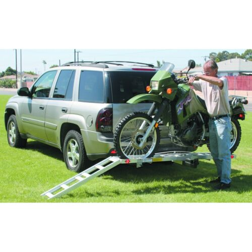 """Hitch Receiver Mount Motorcycle Carrier Trailer Hauler 2/"""" Receiver 400 Lb NEW"""