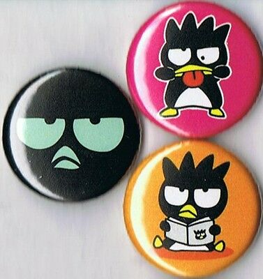 set of 3 Badtz Maru pins buttons badges sanrio cute