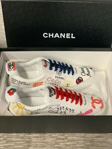 3c6982199 Image is loading Chanel-X-Pharrell-Capsule-Collection-Sneakers-Men-Size-