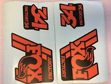 FOX Factory Series Fork 36 Red Left and Right Decals Set 36mm Stickers