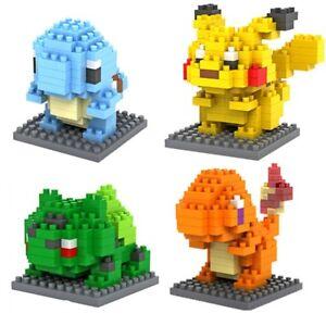 Pokemon Starter Set of 4 w/ Boxes LOZ BLOCK Micro Mini Nano Building Lego Blocks