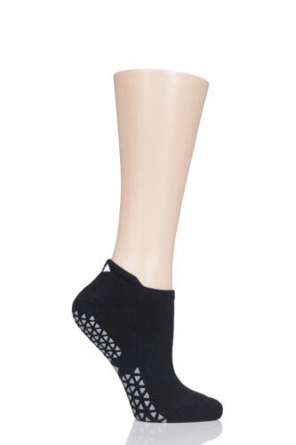 Ladies 1 Pair Tavi Noir Full Front Grip Yoga Organic Cotton Socks