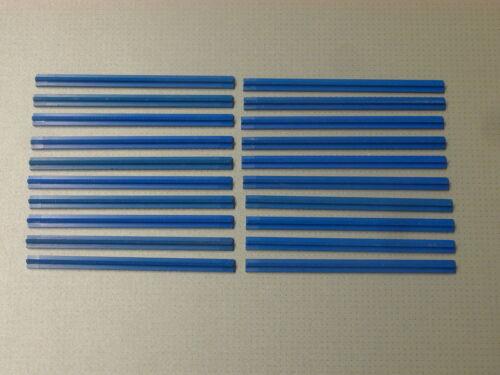 4,5 v // 12v Lego Train 3228 20 x straight track-bleu