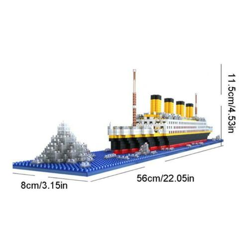 1860 Pcs Titanic Cruise Ship Model Building Block Set Micro Mini Blocks DIY Toys