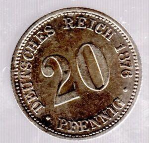 20 Pfennig 1876 B (hanovre) - Empire-chasseur Nº 5 In Presque Unzirkuliert-afficher Le Titre D'origine Oevlvrmw-08004622-475505737