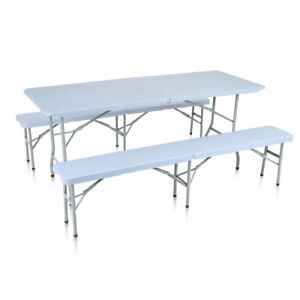 Table et Bancs de Jardin Pliant Table Camping Picnic Plateau Pliable ...