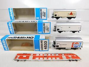 CF660-0-5-3x-Maerklin-H0-AC-Gueterwagen-DB-4533-Pepsi-4426-4415-NEUW-OVP