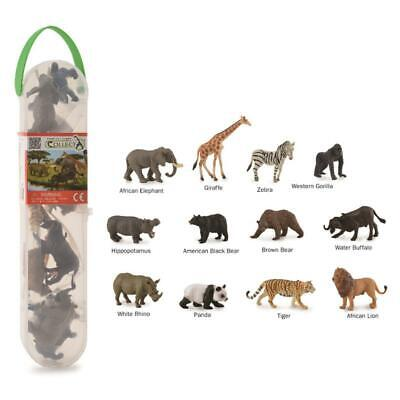 2 Brand New Breyer By CollectA Box of 10 Different Mini Dinosaurs /& Carry Case