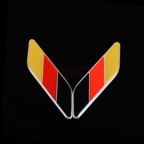 2 Germany DE Metal Car Side Front Fender Wing Emblem Badge Sticker Mercedes Benz
