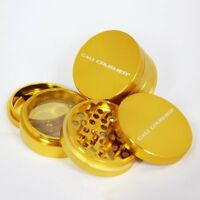 Large Cali Crusher Herb Grinder 4 Piece Gold, New, Free Shipping