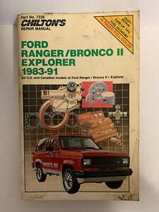 Chilton-Repair-Manual-Ford-Ranger-Bronco-Explorer-1983-1991