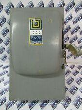 Square D H323n Series A 100 Amp 240 Volt 3p4w Fusible Vintage Disconnect
