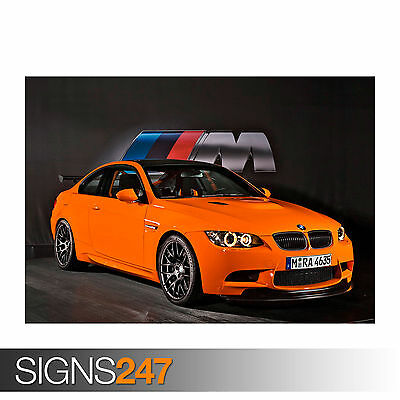 0551 Car Poster BMW M3 GTS Photo Picture Poster Print Art A0 A1 A2 A3 A4