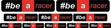 10 ADESIVI APRILIA RACING #BE A RACER TRICOLORE MOTO STICKERS A COLORI COD14