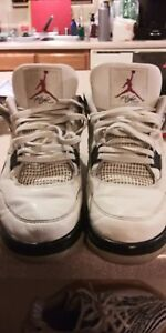 8c1cb29ff80 Nike Air Jordan IV 1999 Retro 4 OG WHITE CEMENT 136013 101 Size 11 ...