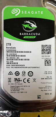 PN 1ER164-302 Seagate 2TB SATA 3.5 Hard Drive TK FW CC26 Z4Z ST2000DM001