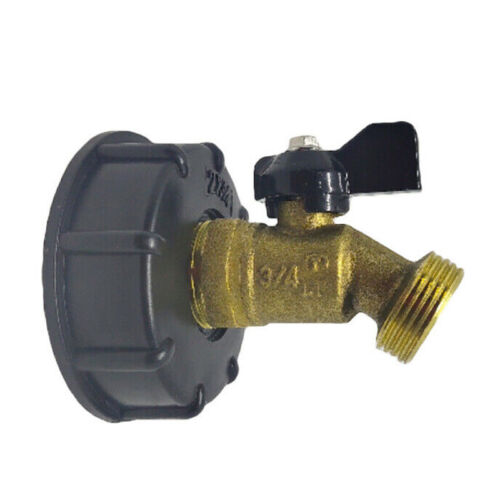 275-330 Gallon IBC Tote Water Tank Adapter 2 Inch Hose Faucet Valve Tool Durable