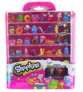 Shopkins-Collectors-Case-Decorate-Includes-2-Exclusive-Shopins-Toys-Brand-New