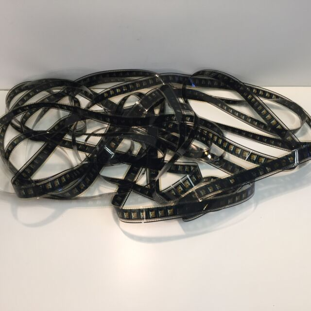 Vintage Used 35mm Movie Film 50ft. Art Deco And Theater Room Reel Decor Old