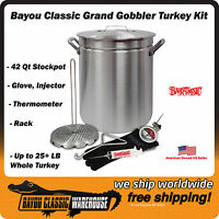 "Turkey Deep Fryer Kit ""Grand Gobbler"" 42 Quart Oversized for up to 25 LBS"