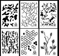 6pack Vinyl Airbrush Stencils 10 Mil Camo Duracoat 9x14 Multicam Digital &more
