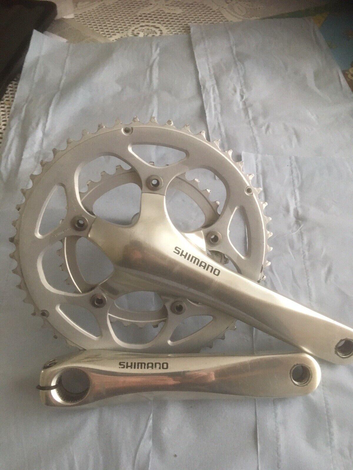 Shimano FC 4550 pedaliera in compatto 175mm 50 x 34 anelli.