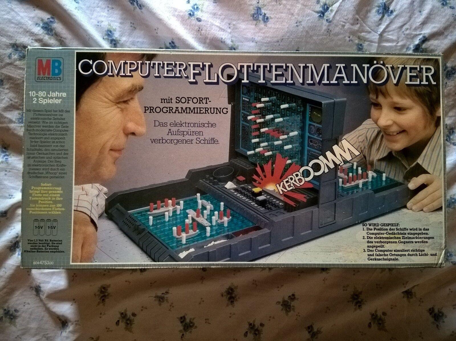 Computer FlottenManöver Electronic Battleship MB Games Vintage box manual