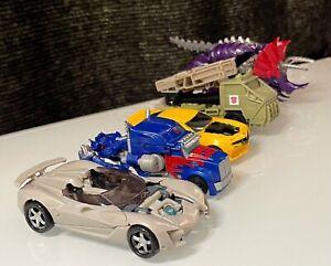 Transformers Toy Lot of 5 Bumblebee Hound Optimus Prime Slag Sideswipe