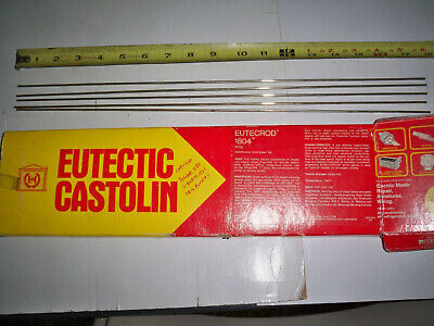 "5 pcs 1//8/"" x 18/"" Castolin Eutectic 18 XFC Brazing Rod Copper base"