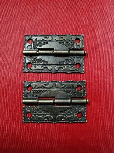 1 Pair Filigree Antique Bronze Decorative Lace Hinge Wooden boxes doorbutt hinge