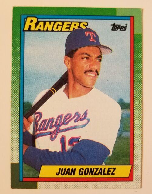 Juan Gonzalez Topps #331 1990 Rangers baseball trading card
