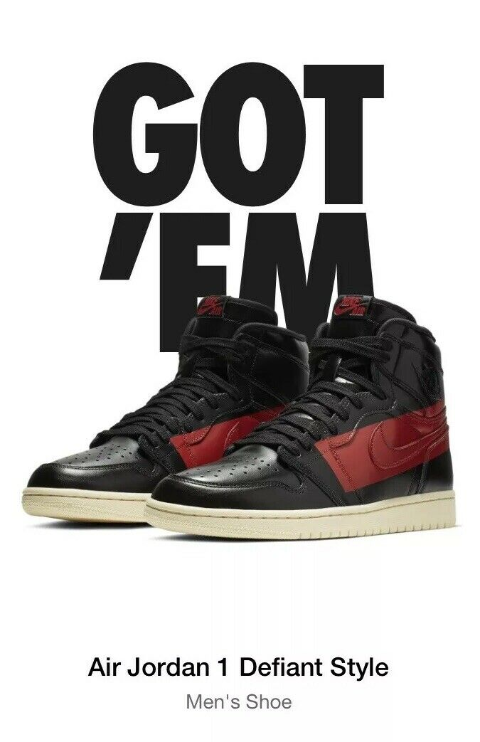 3eb2df8c560 AIR JORDAN 1 COUTURE Defiant Style LIMITED RELEASE. Hand. Sz 10 In Nike  nckrzw7397-Athletic Shoes