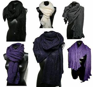 Sciarpa-scialle-Made-in-Italy-Mohair-Scarf-Donna-Lana-Pashmina-DD