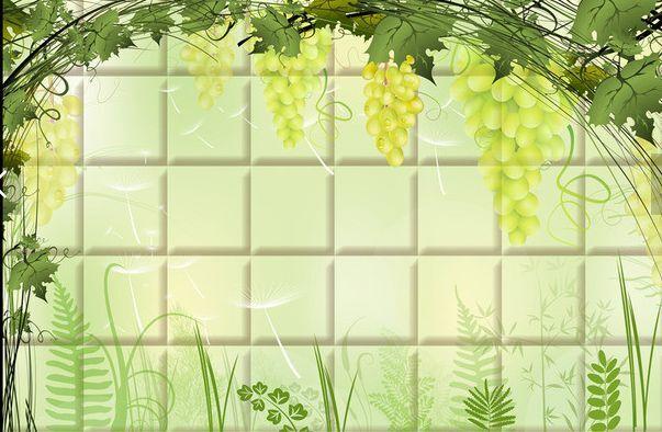 3D Grüne Wasserfall, Blätter    Fototapeten Wandbild Fototapete BildTapete Familie 934042