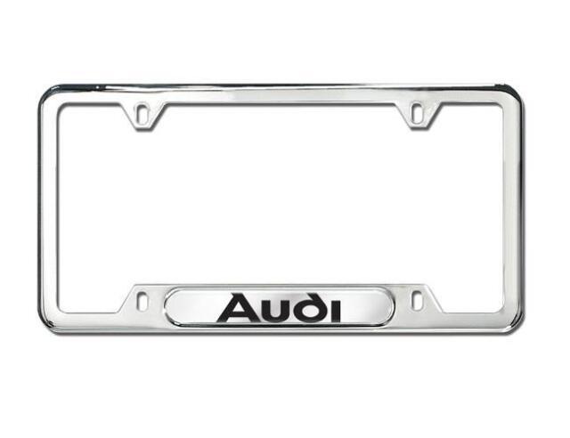 Audi License Plate Frame OEM ZAW355016 Polished Stainless Steel   eBay