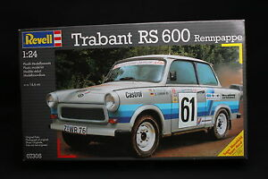xq054 revell 1 24 maquette voiture 07305 trabant rs 600 rennpappe ann e 1995 ebay. Black Bedroom Furniture Sets. Home Design Ideas