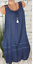 Sommer-Longshirt-Minikleid-Strand-Beach-Urlaub-spitze-Blau-A-Linie-42-44-46-NEU