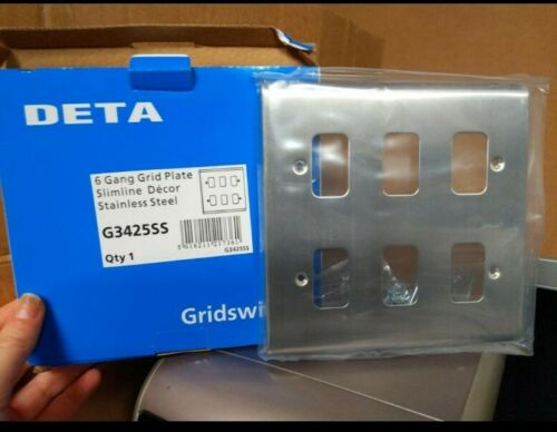 G3425SS DETA 6 Gang Grille Plaque compact en acier inoxydable